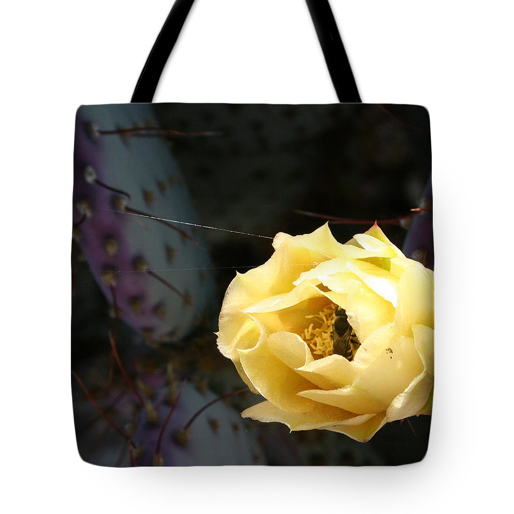 Prickly Tote Bag featuring the photograph Prickly Bee by Marna Edwards Flavell
