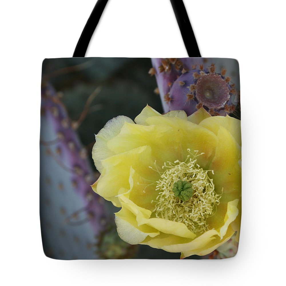 Prickly Tote Bag featuring the photograph Prickly Blossom by Marna Edwards Flavell