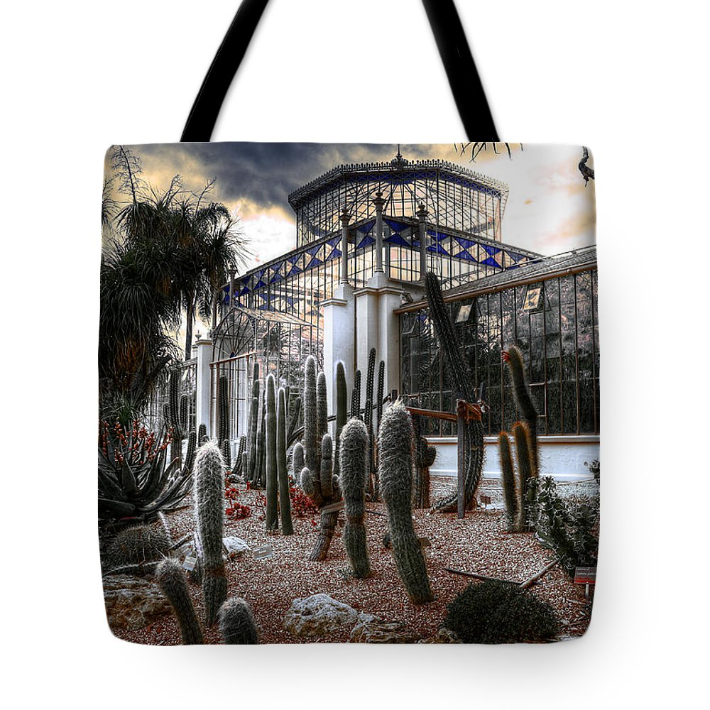 Plants Tote Bag featuring the photograph Pricklyscape by Wayne Sherriff