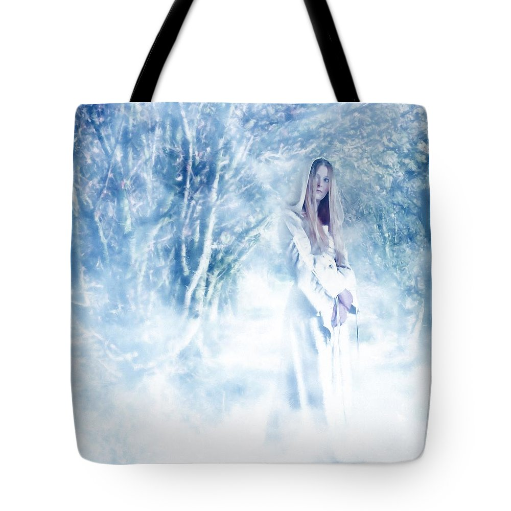 Woodland Tote Bag featuring the photograph Priestess by John Edwards