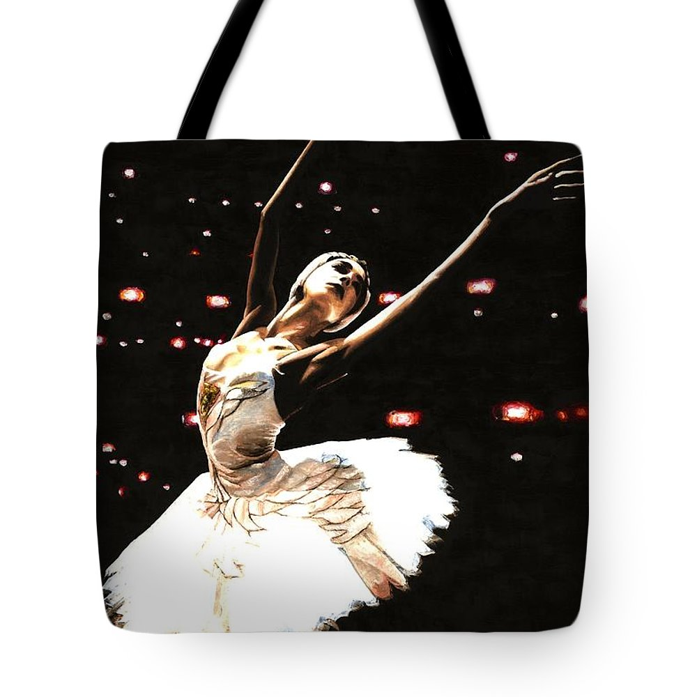 Prima Ballerina Tote Bag featuring the painting Prima Ballerina by Richard Young