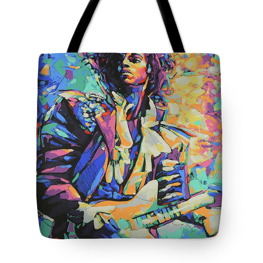 Prince tote bag featuring the painting prince art painting print or canvas by damon gray