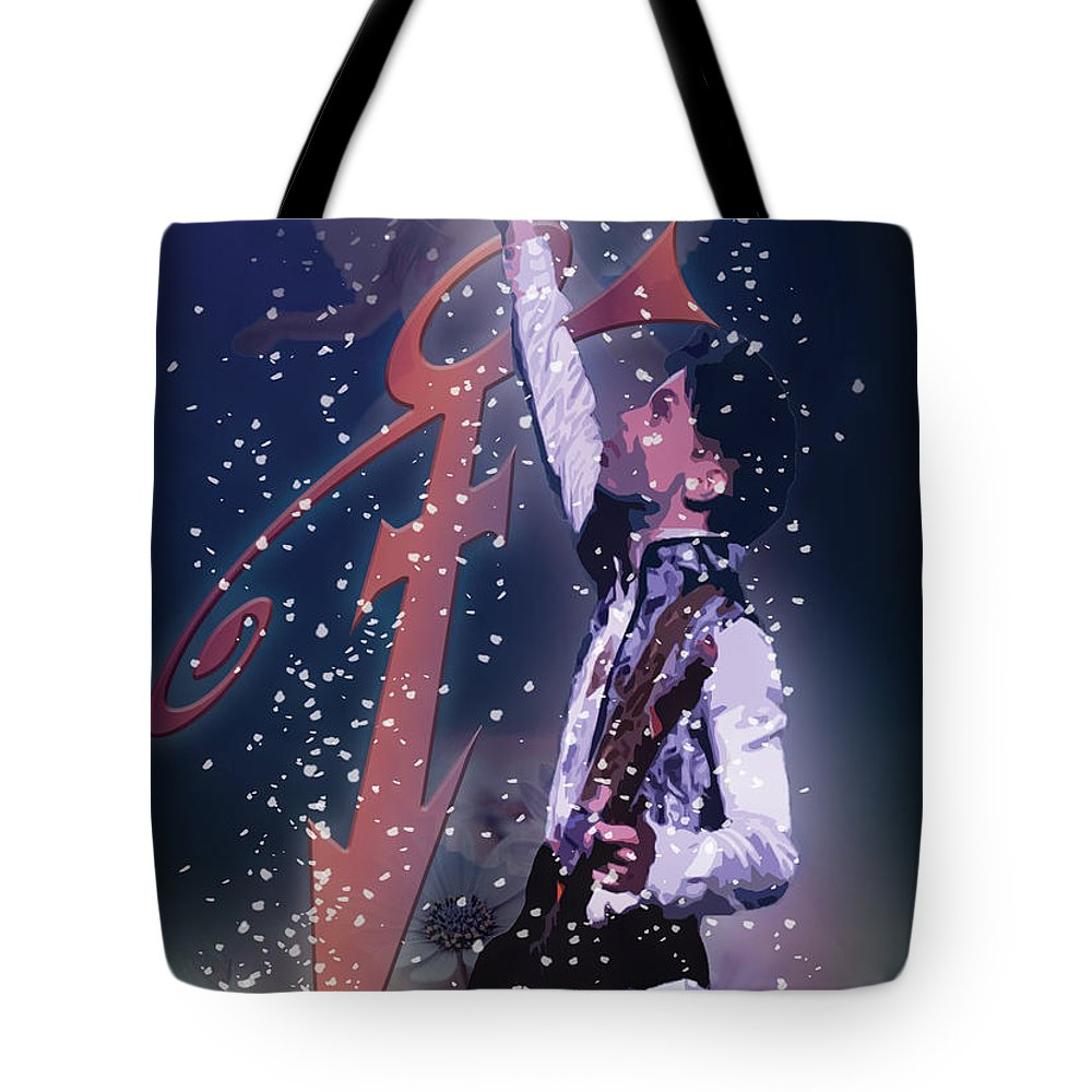 Prince Tote Bag featuring the digital art Prince by Hay Rouleaux
