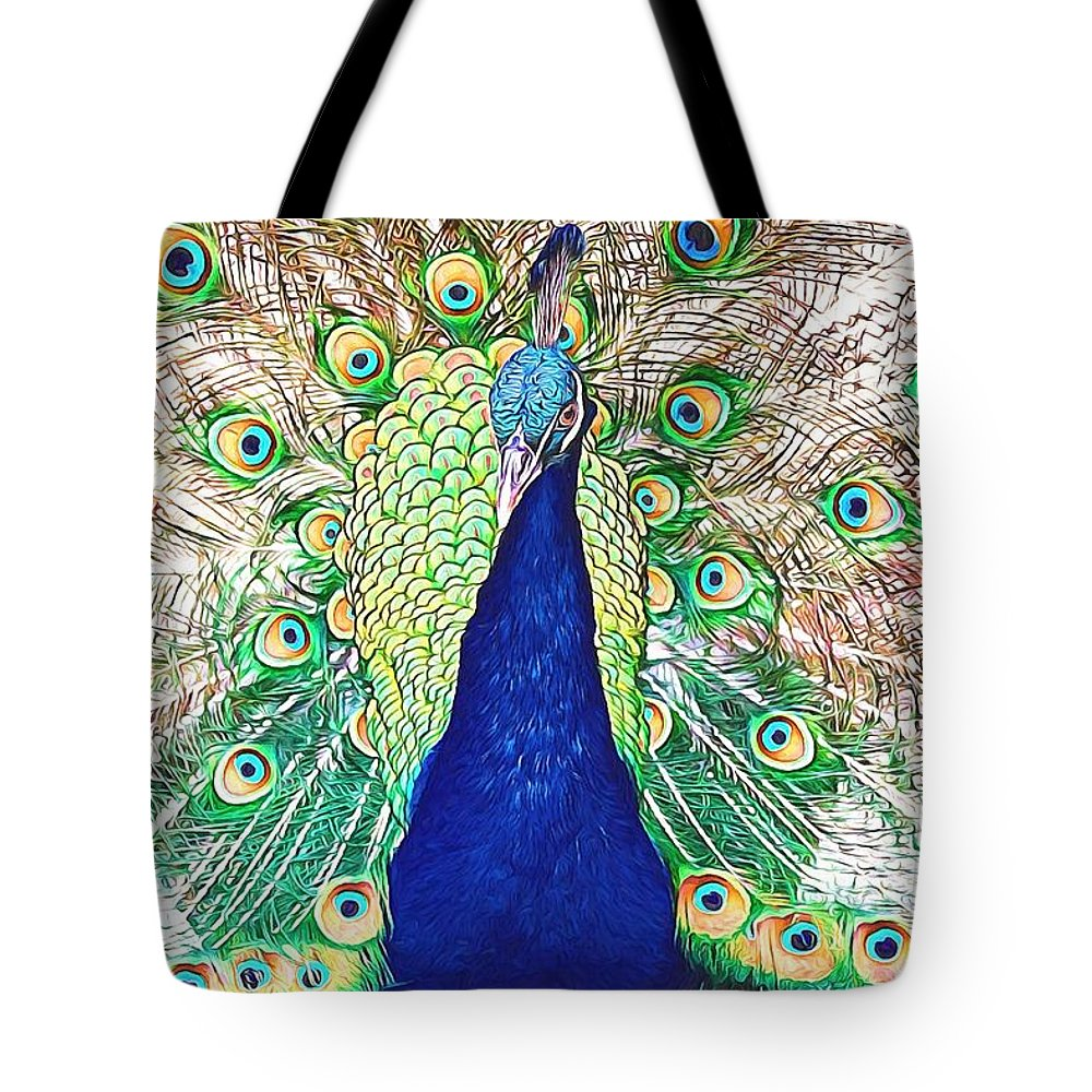 Alicegipsonphotographs Tote Bag featuring the photograph Prince Of The Peacocks by Alice Gipson