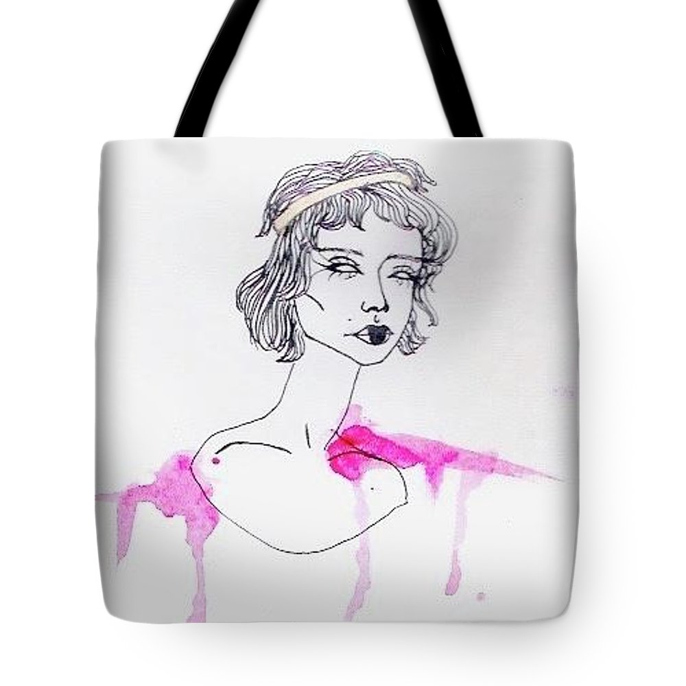 Blood Tote Bag featuring the drawing Princess by Alyssa Torres