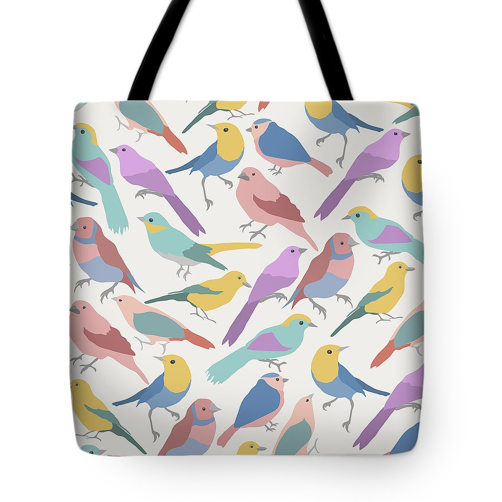 Birds Tote Bag featuring the digital art Print by James McConville
