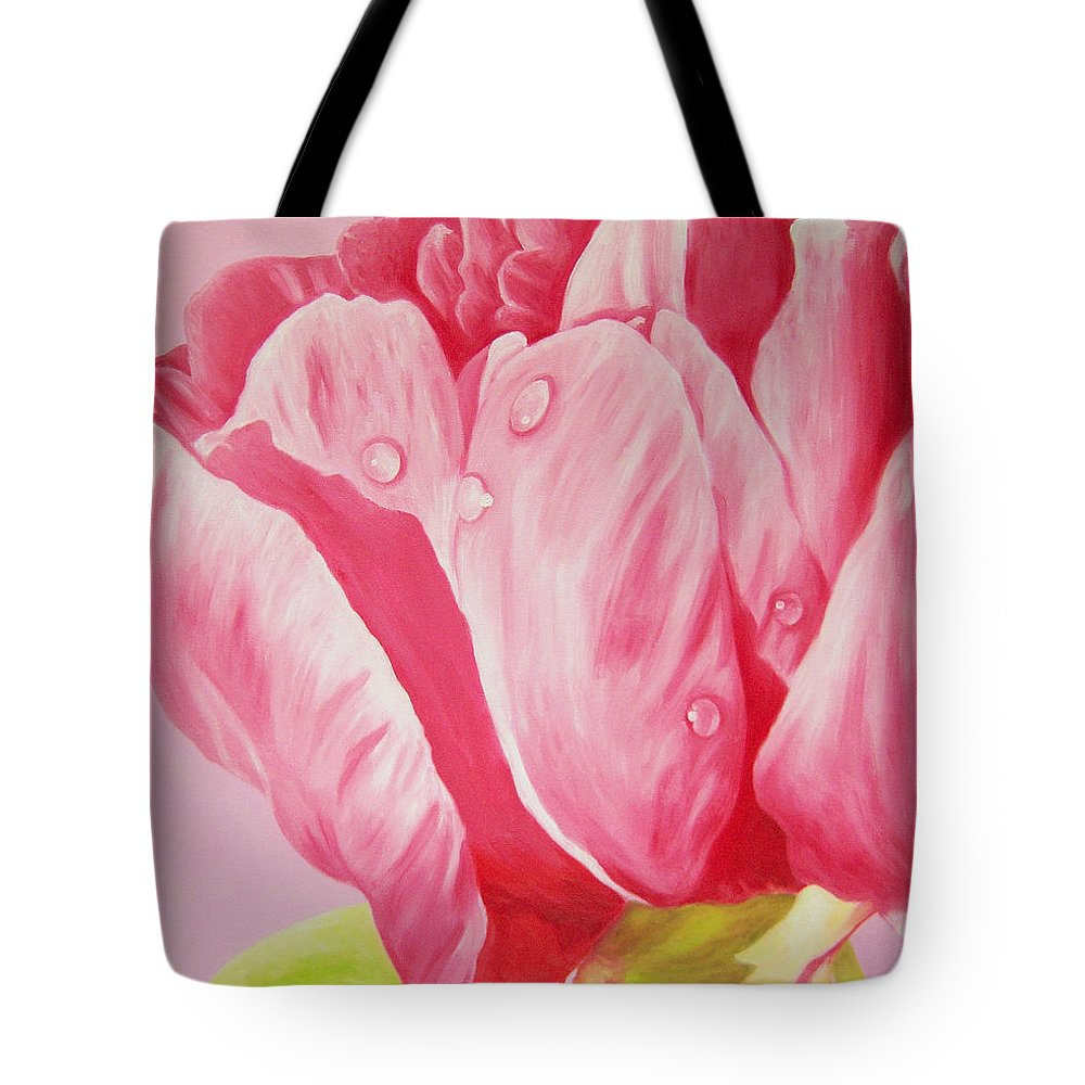 Fine Art Tote Bag featuring the painting Prints Art For Sale Floral Oil Painting Pink by Diane Jorstad