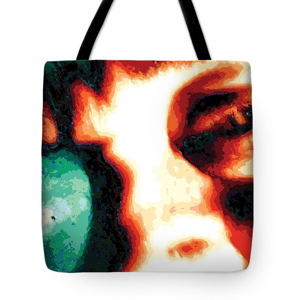 Abstract Tote Bag featuring the digital art Prismeye, No. 2 by James Kramer