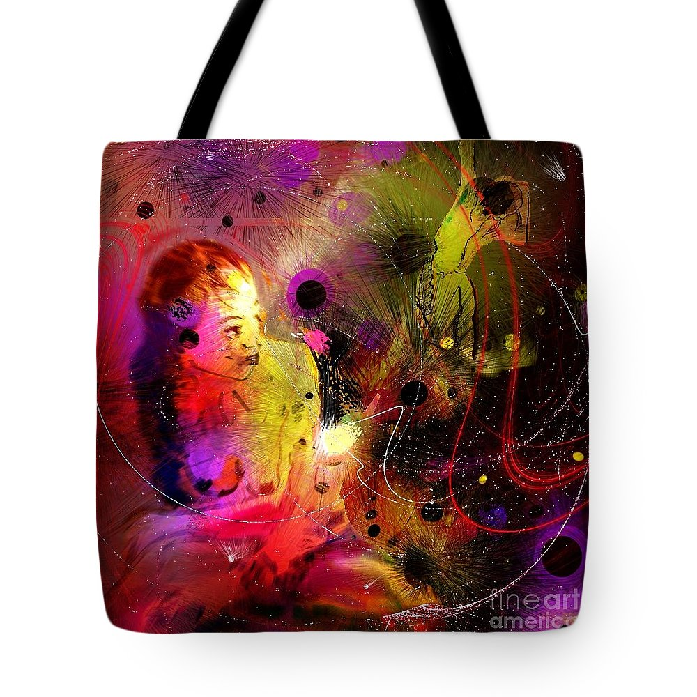 Nudes Tote Bag featuring the painting Prisoner Of The Past by Miki De Goodaboom
