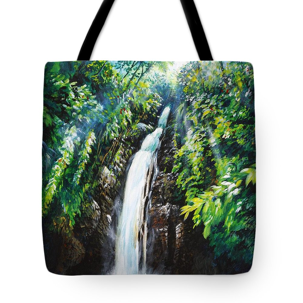 Chris Cox Tote Bag featuring the painting Pristine by Christopher Cox