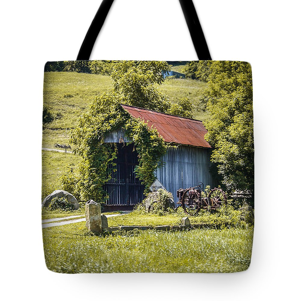 America Tote Bag featuring the photograph Private Covered Bridge by Jack R Perry