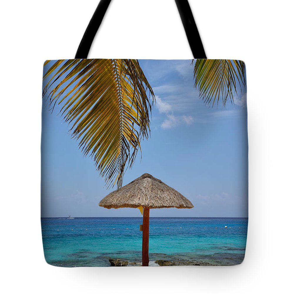 Palapa Tote Bag featuring the photograph Private Palapa by Kathy Yates