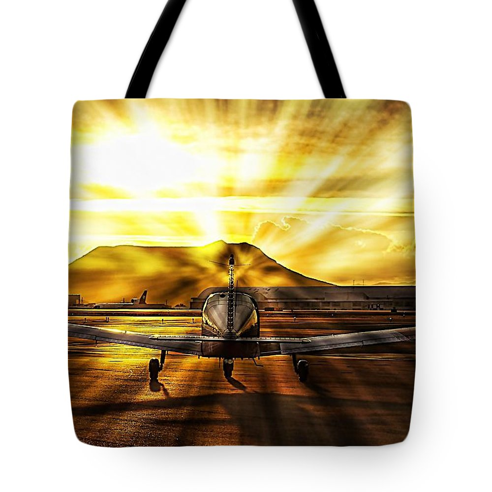 Airplane Tote Bag featuring the photograph Private Pilot Heaven by Scott Kimble