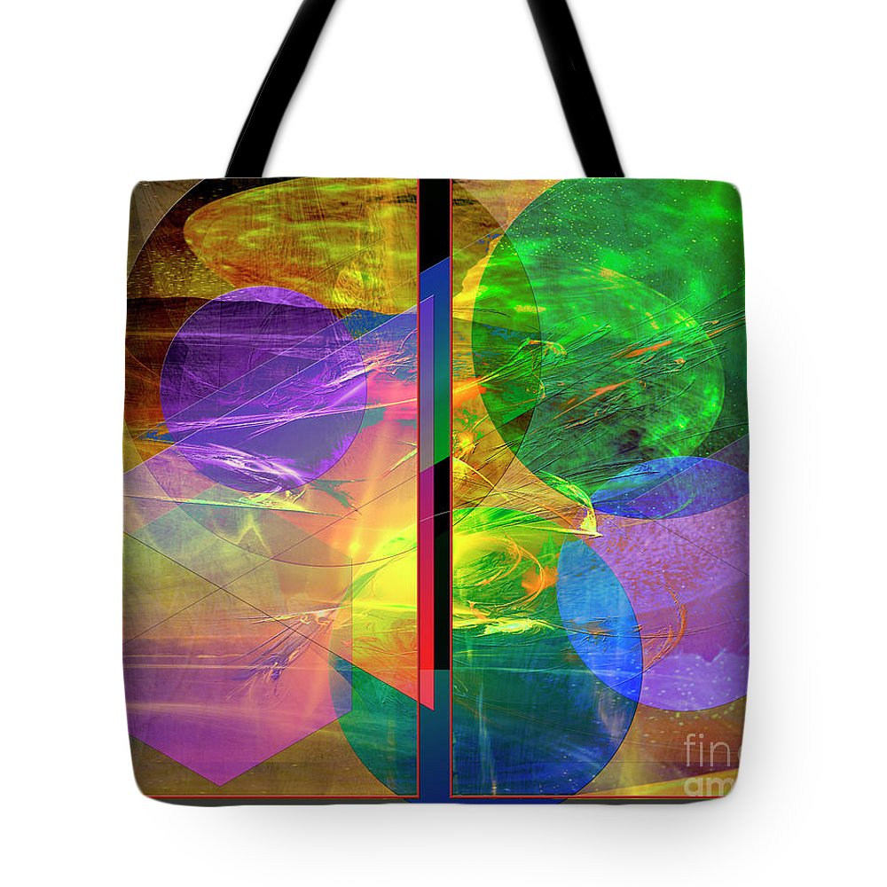 Progressive Intervention Tote Bag featuring the digital art Progressive Intervention by John Beck