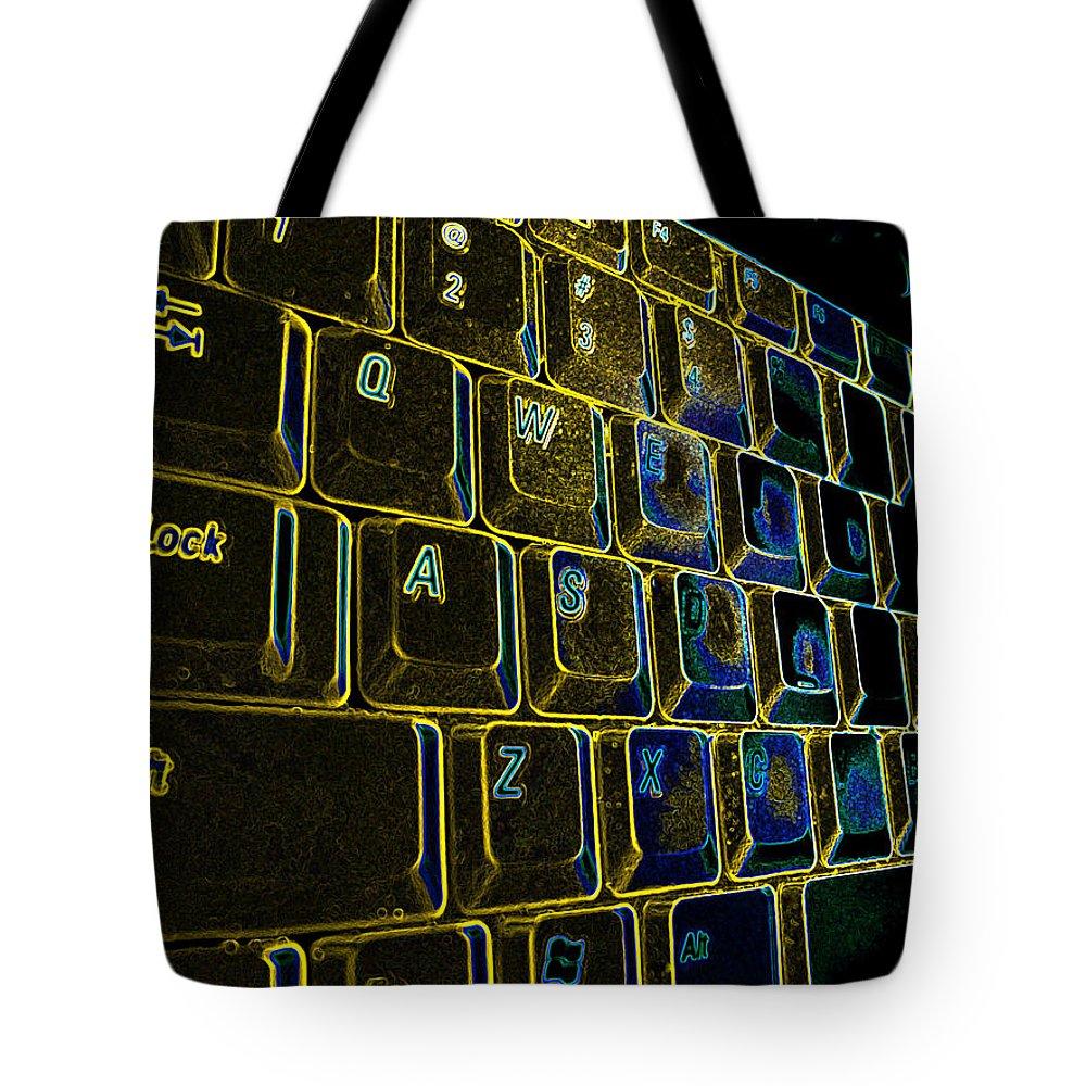 Keyboard Tote Bag featuring the photograph Progressive Keys by Ian MacDonald