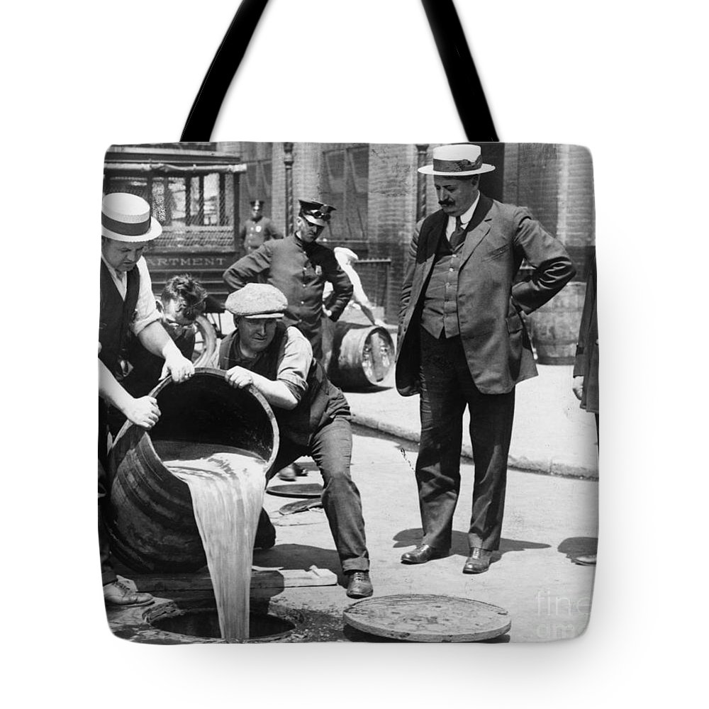 1921 Tote Bag featuring the photograph Prohibition, C1921 by Granger