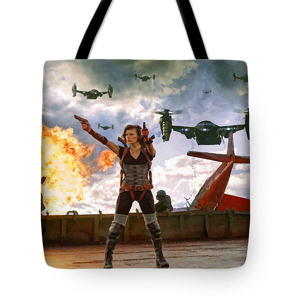 Comics Tote Bag featuring the digital art Project Alice by Don Kuing