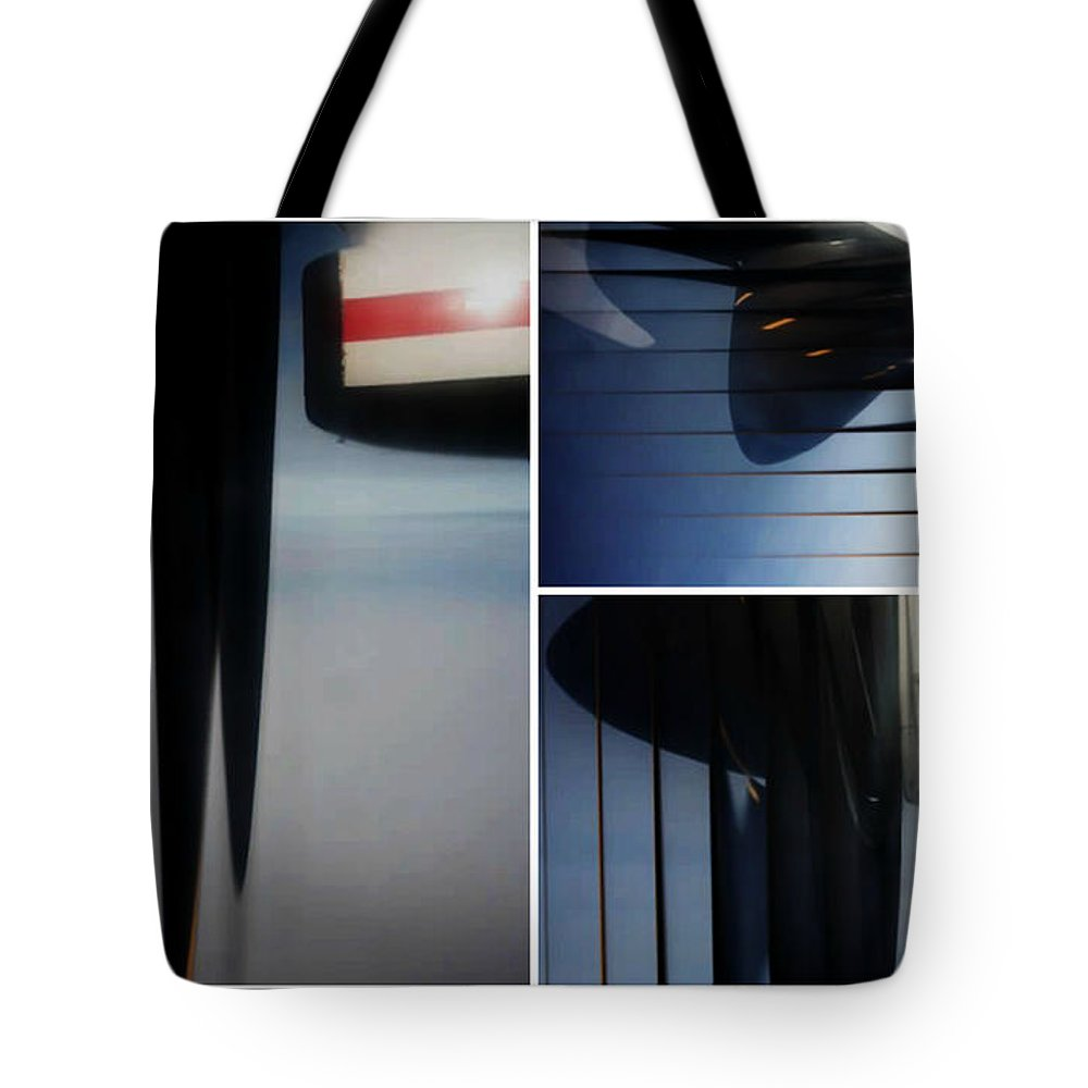 Airplane Propellers Tote Bag featuring the photograph Propeller Collage by Lori Mahaffey