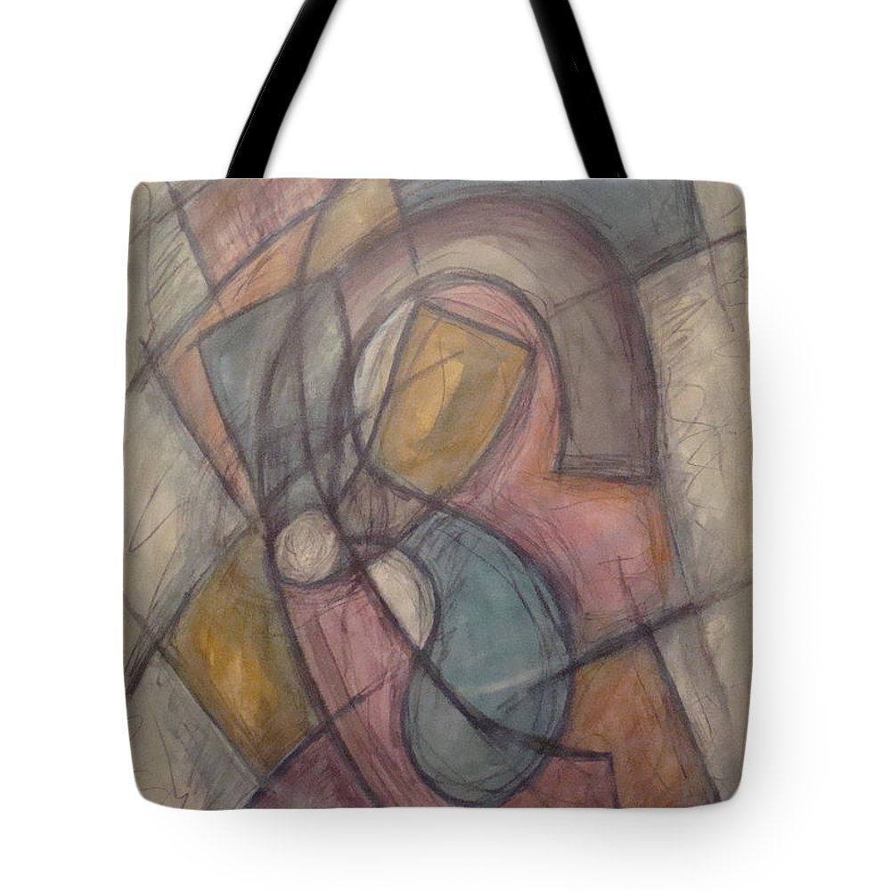 Pure Abstract Tote Bag featuring the painting Propeller by W Todd Durrance