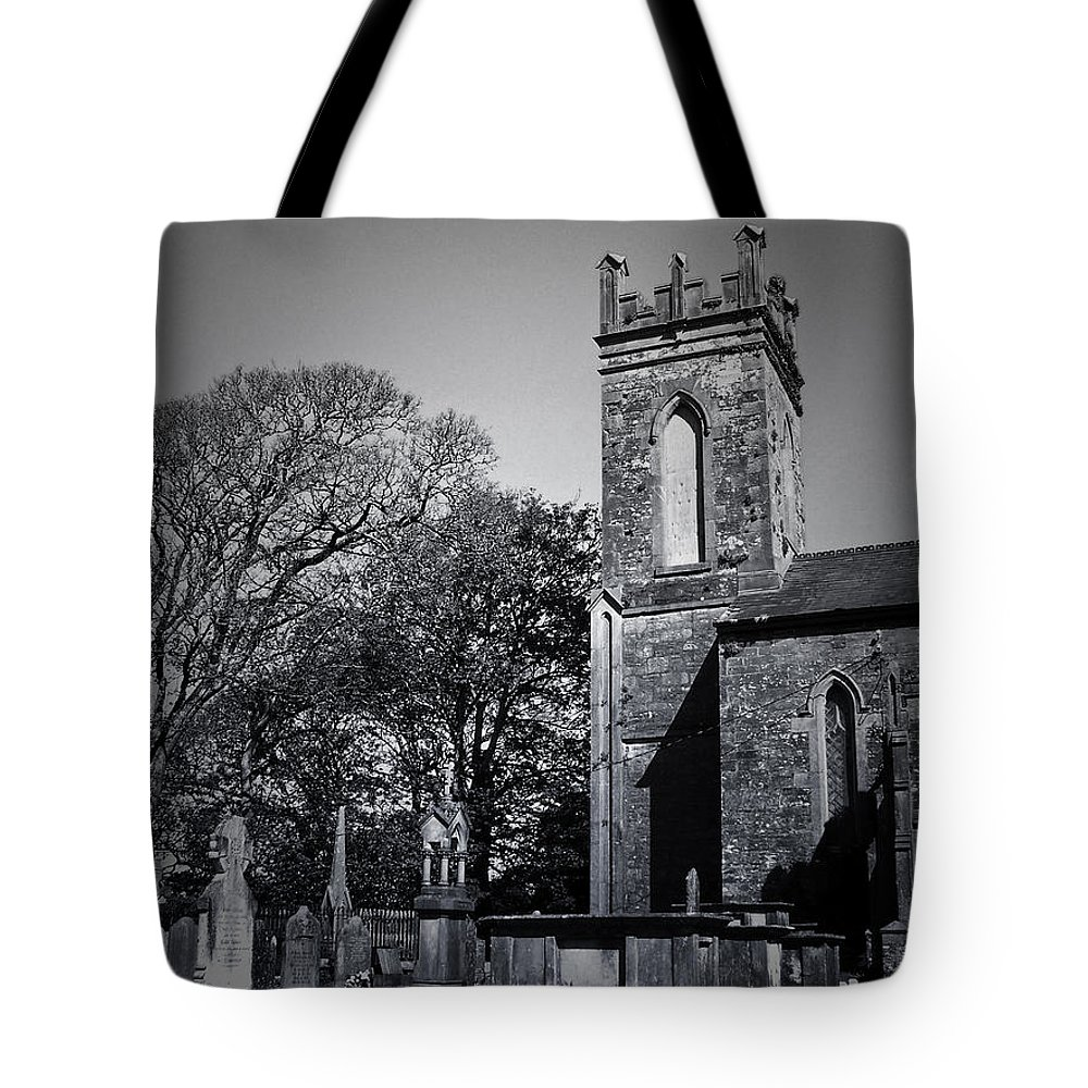 Irish Tote Bag featuring the photograph Protestant Church Macroom Ireland by Teresa Mucha