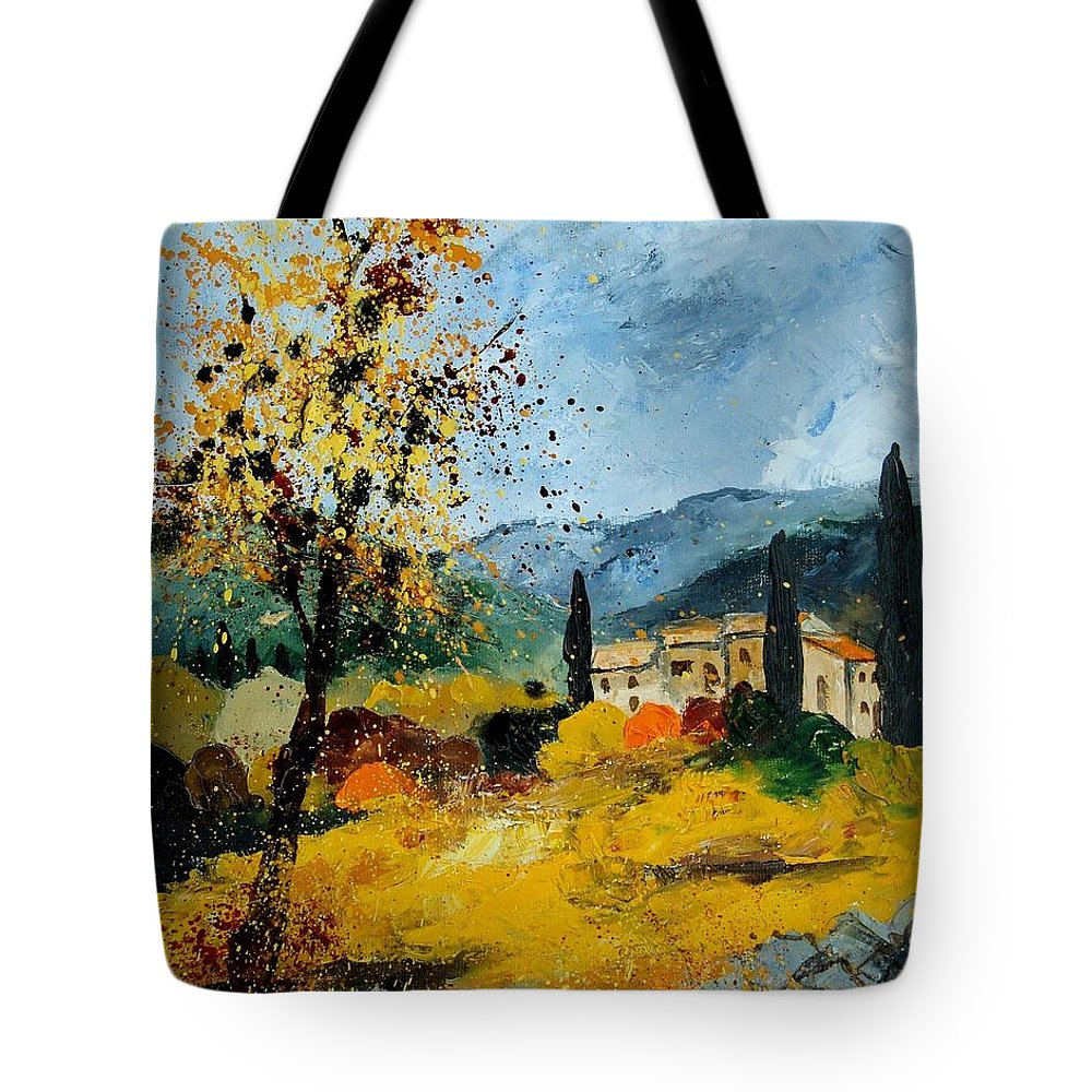 Provence Tote Bag featuring the painting Provence 45 by Pol Ledent