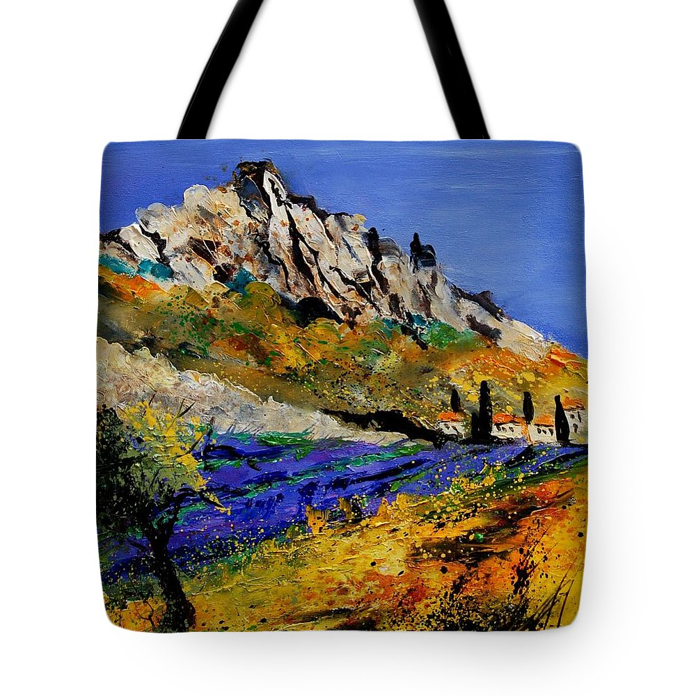 Flowers Tote Bag featuring the painting Provence 560908 by Pol Ledent