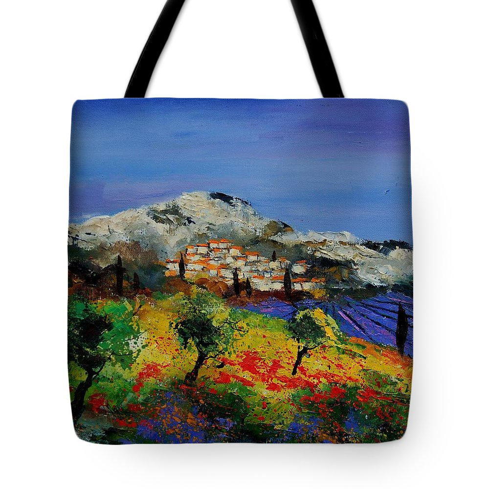 Provence Tote Bag featuring the painting Provence 569010 by Pol Ledent