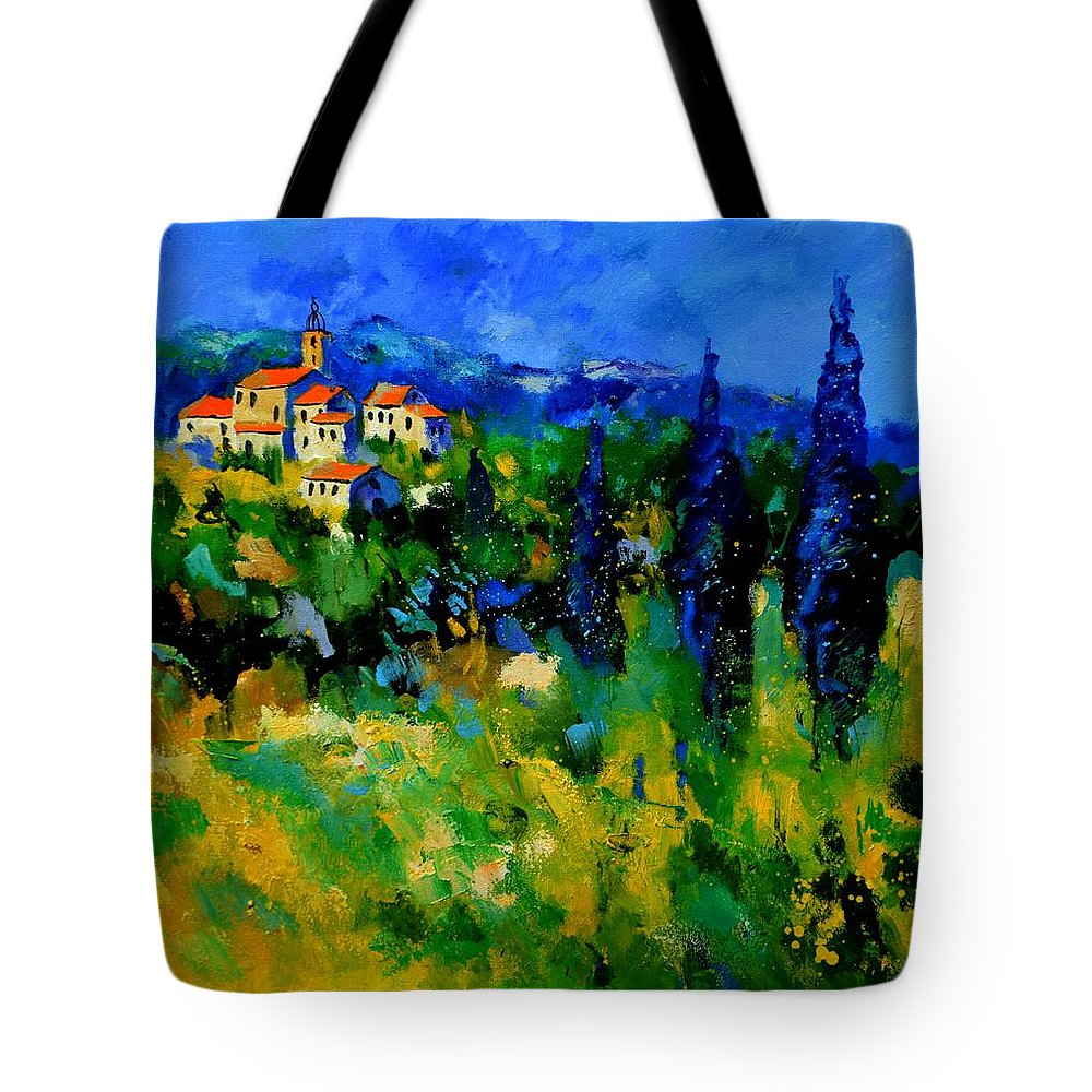 Landscape Tote Bag featuring the painting Provence 768110 by Pol Ledent