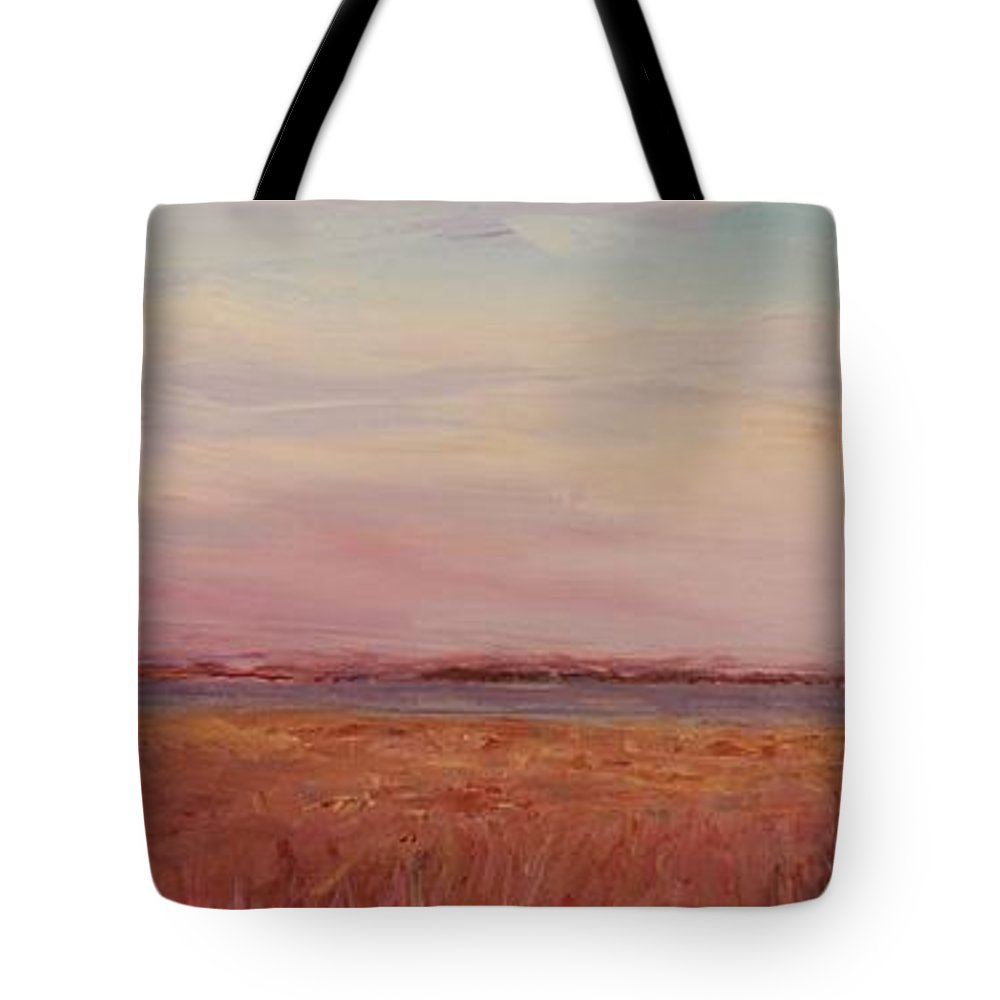 Landscape Tote Bag featuring the painting Provence Camargue by Nadine Rippelmeyer