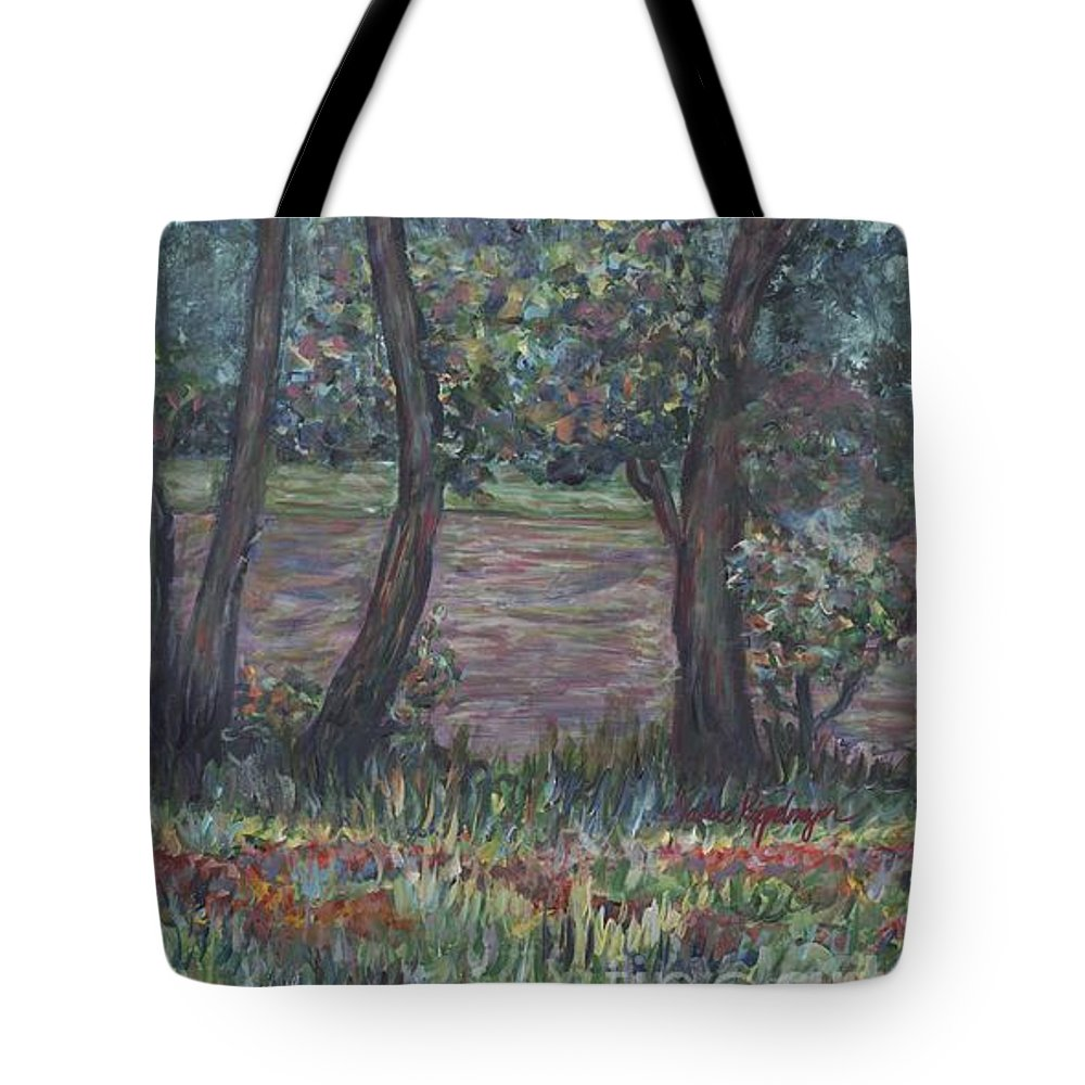 Landscape Tote Bag featuring the painting Provence Flowers by Nadine Rippelmeyer
