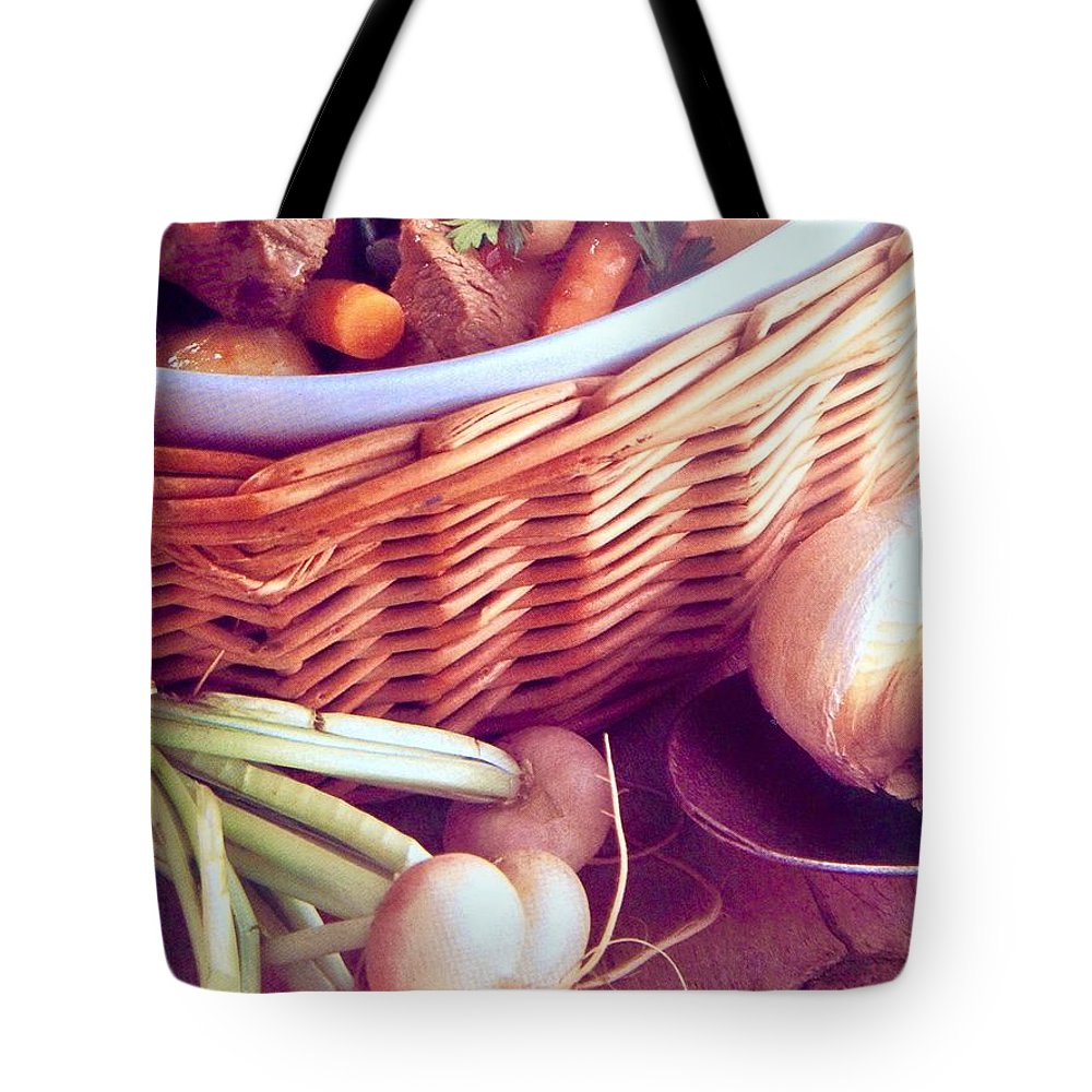 Tote Bag featuring the photograph Provence Kitchen Shallots by Jacqueline Manos