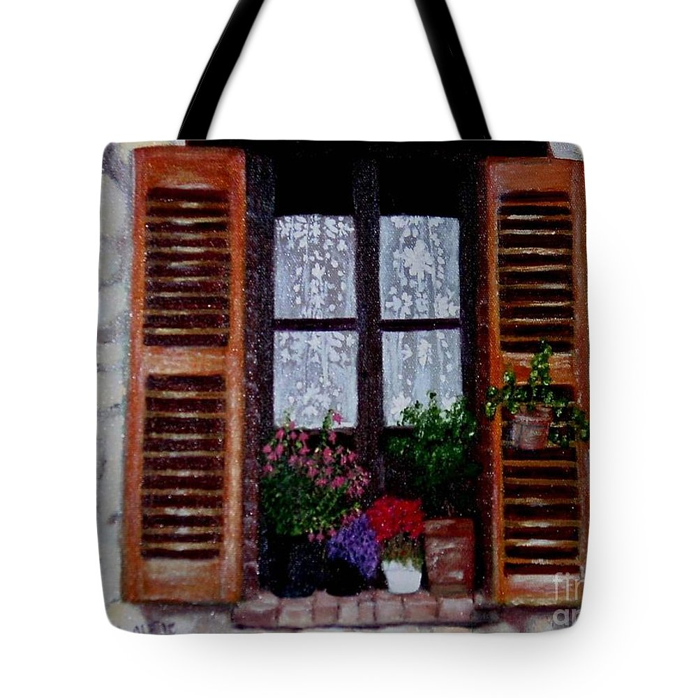 Provence Tote Bag featuring the painting Provence Morning by Laurie Morgan