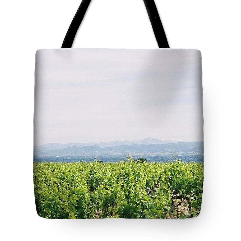 France Tote Bag featuring the photograph Provence Spring Vineyard by Nadine Rippelmeyer