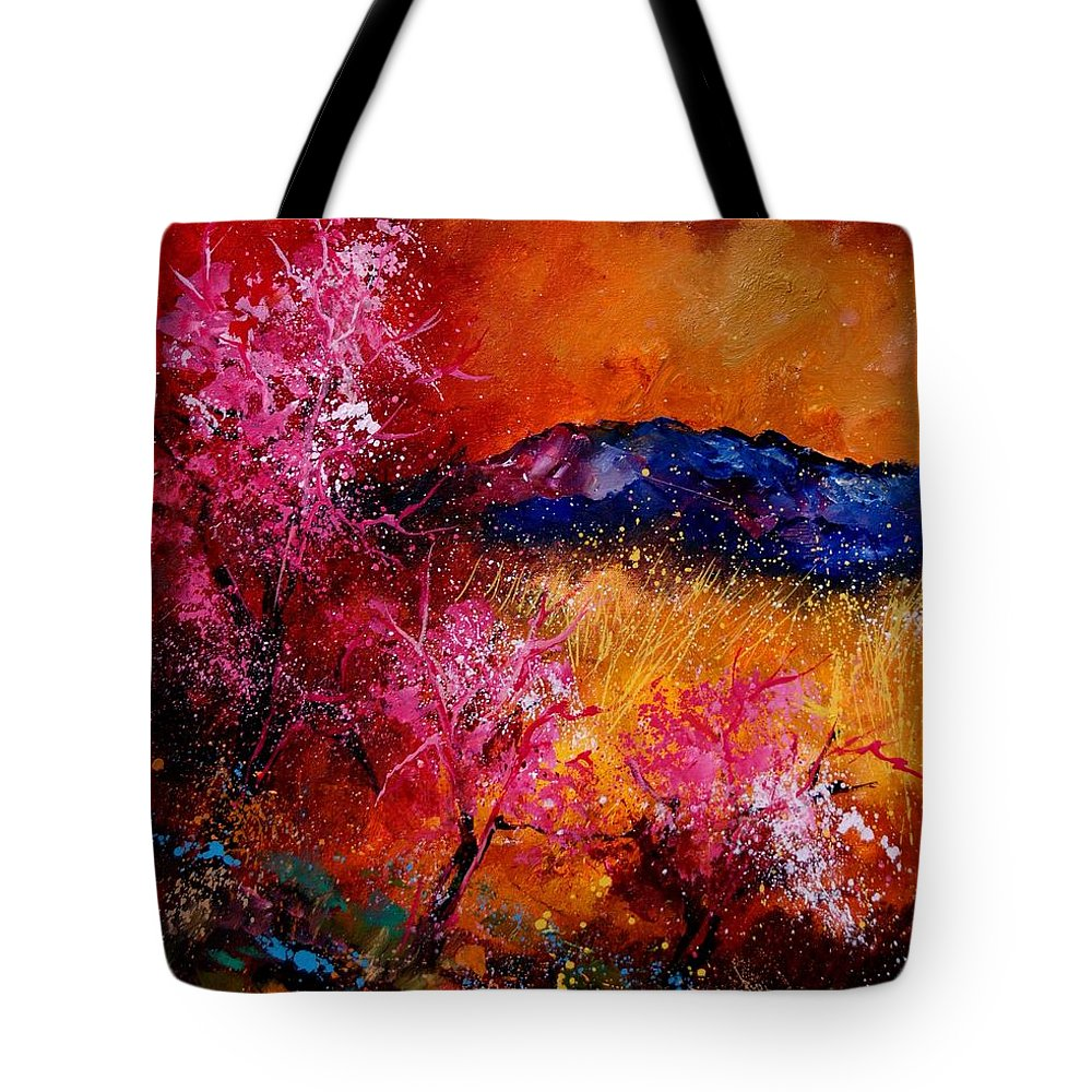 Provence Tote Bag featuring the painting Provence560908 by Pol Ledent