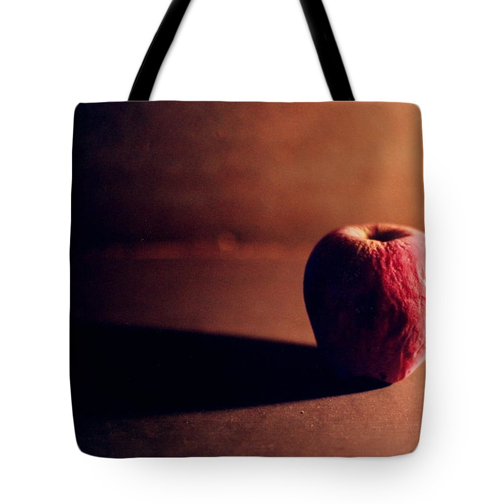 Shriveled Tote Bag featuring the photograph Pruned Apple Still Life by Michelle Calkins