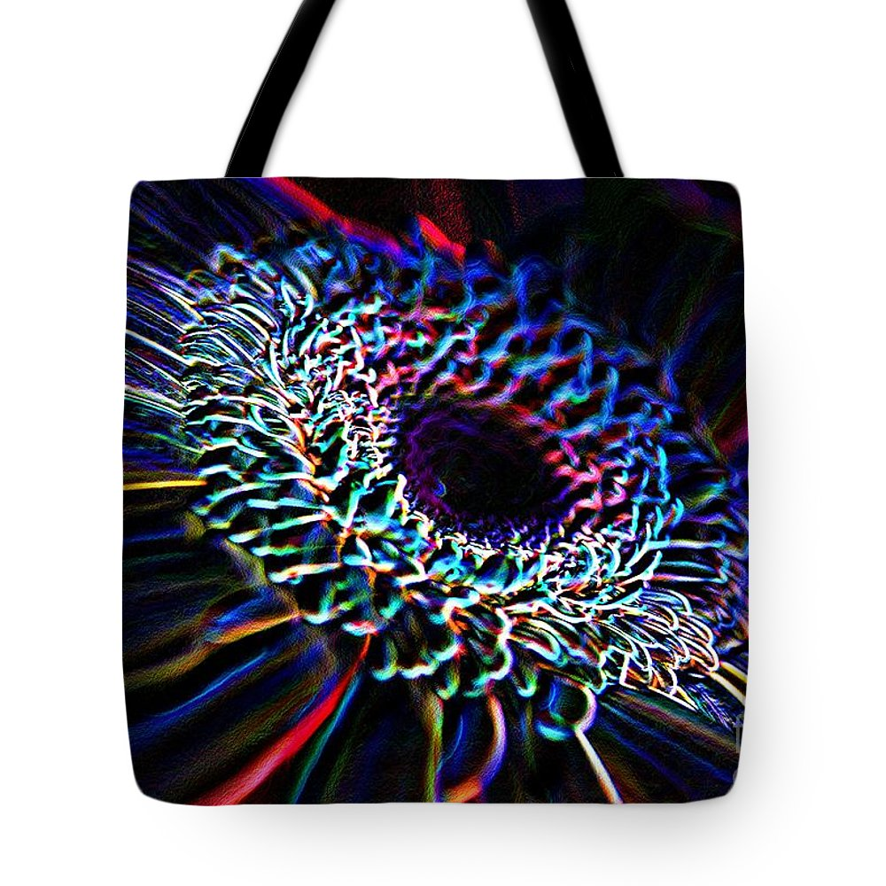 Psychedelic Tote Bag featuring the photograph Psychedelic Neon by Charles Dobbs