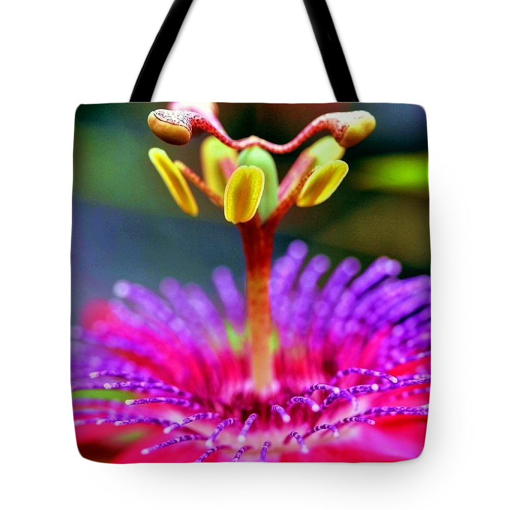 Flower Tote Bag featuring the photograph Psychedelic Silhouettes by Mitch Cat