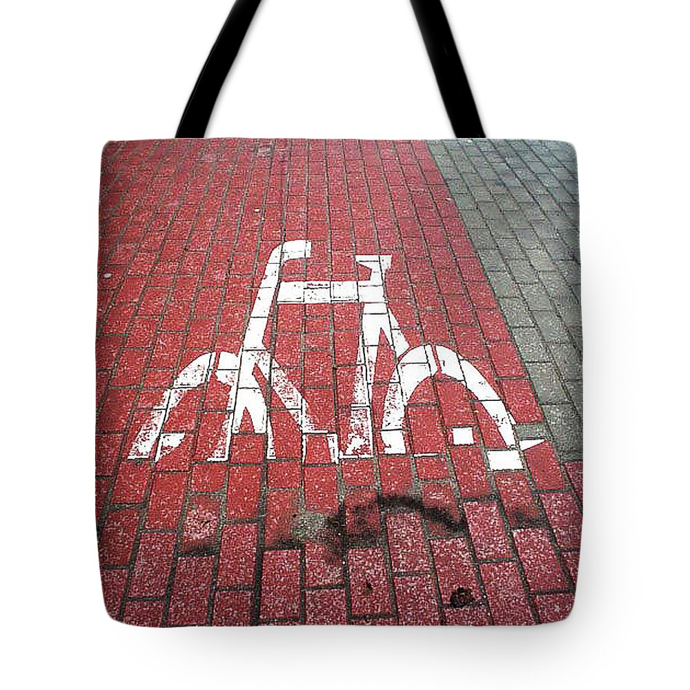 Tote Bag featuring the painting Psychosis. Funny Sign. by Maciej Mackiewicz