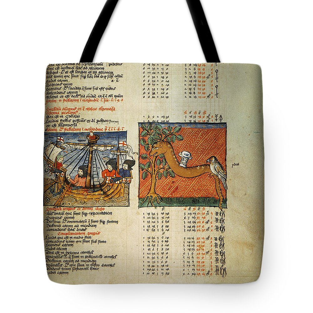 1490 Tote Bag featuring the photograph Ptolemy: Almagest, 1490 by Granger