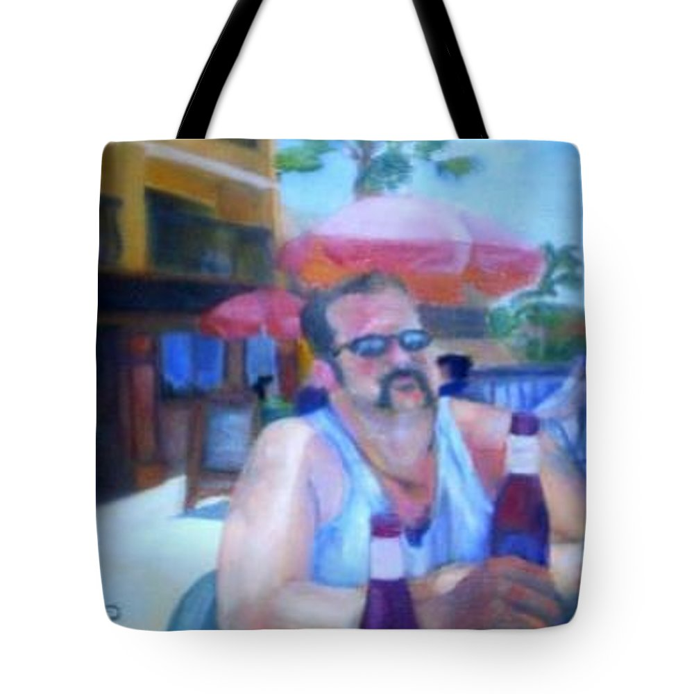 Daytona Tote Bag featuring the painting Pub by Sheila Mashaw