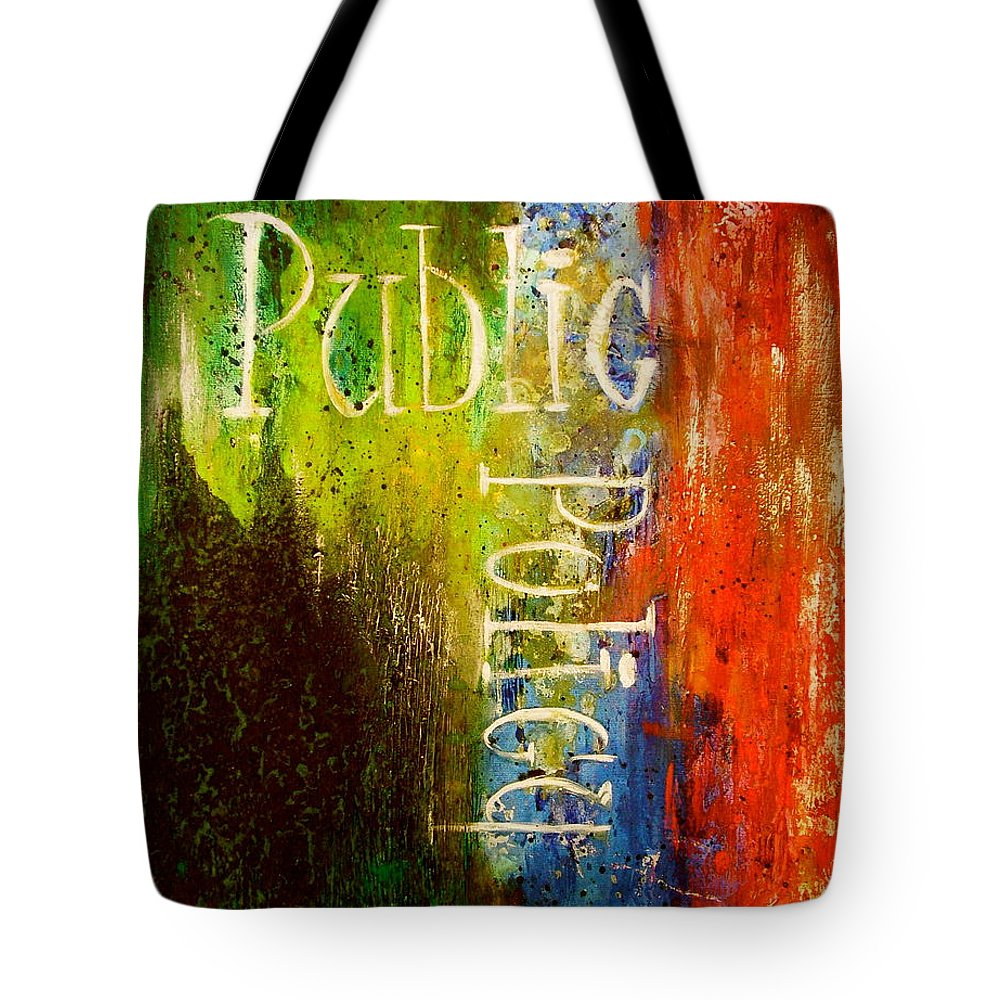 Abstract Art Tote Bag featuring the painting Public Policy by Laura Pierre-Louis