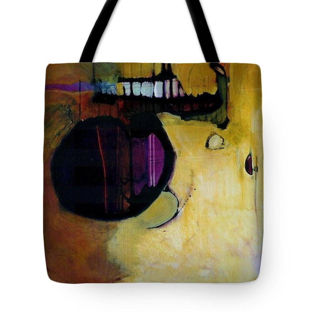 Abstract Tote Bag featuring the painting Published by Marlene Burns