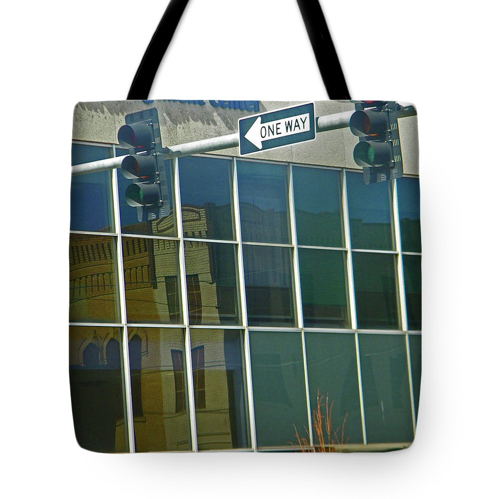 Abstract Tote Bag featuring the photograph Pueblo Downtown 6th Street by Lenore Senior