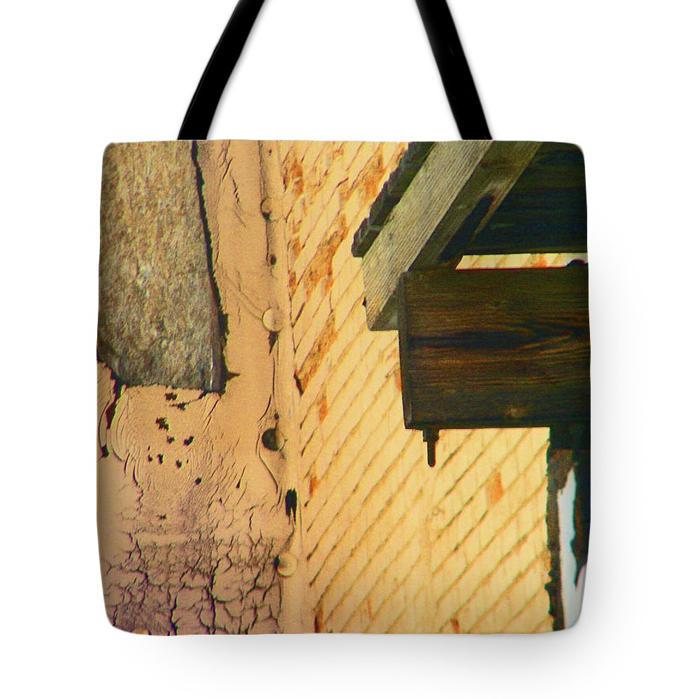 Abstract Tote Bag featuring the photograph Pueblo Downtown-ancient Ruins by Lenore Senior