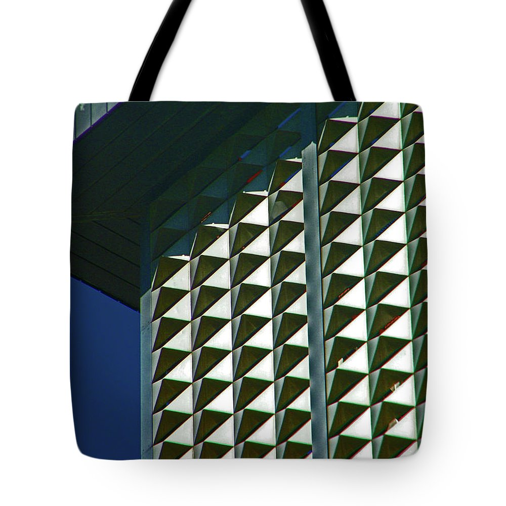 Abstract Tote Bag featuring the photograph Pueblo Downtown Design 2 by Lenore Senior