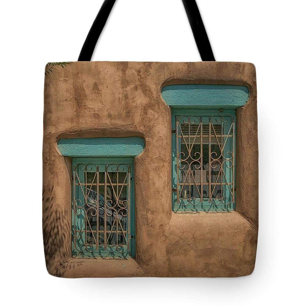 Pueblo Tote Bag featuring the photograph Pueblo Windows Nm Horizontal Img_8336 by Greg Kluempers
