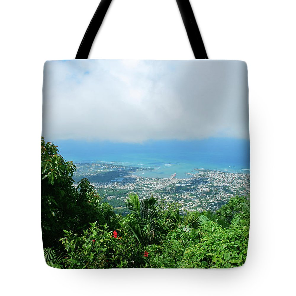 Tote Bag featuring the photograph Puerto Plata Mountain View Of The Sea by Heather Kirk
