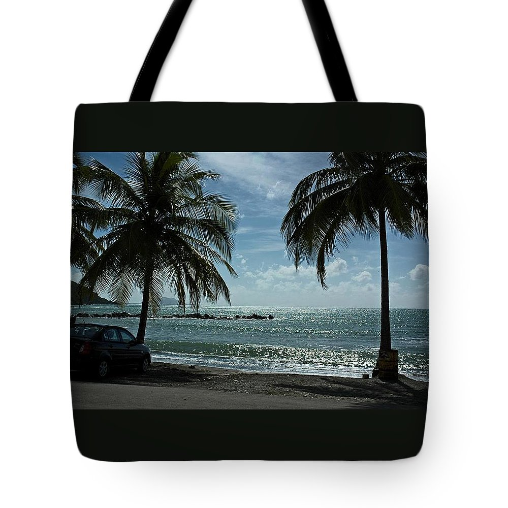 Landscape Tote Bag featuring the photograph Puerto Rican Beach by Tito Santiago
