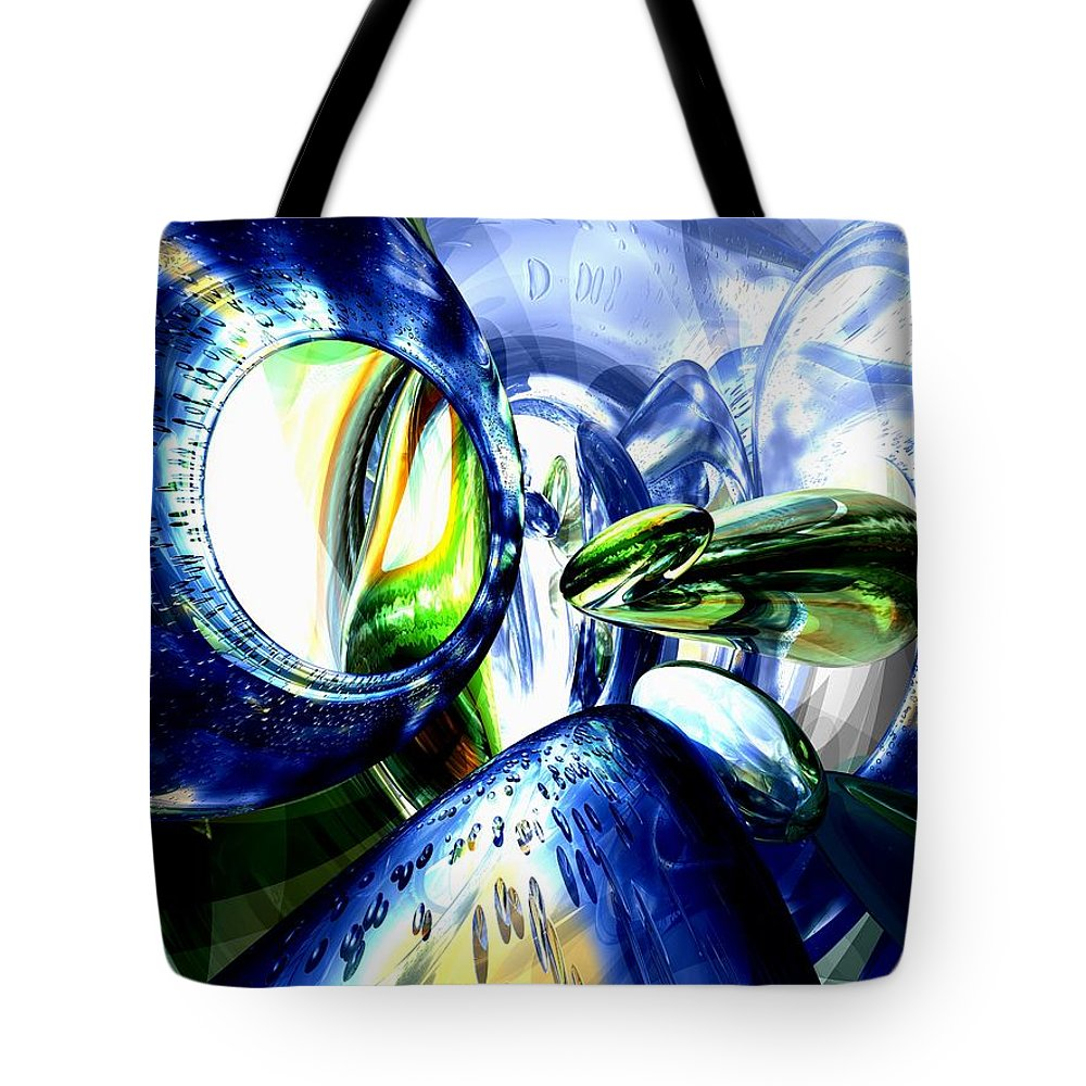 3d Tote Bag featuring the digital art Pulse Of Life Abstract by Alexander Butler