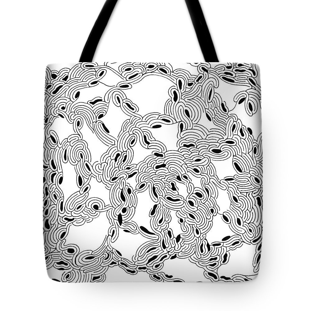 Mazes Tote Bag featuring the drawing Pulse by Steven Natanson